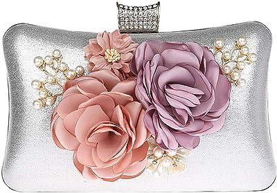 KELUOSI Blaume Kupplungen Abendtaschen Handtaschen Hochzeit Clutch Geldbörse für Prom Weihnachtsfeier Hochzeit Braut