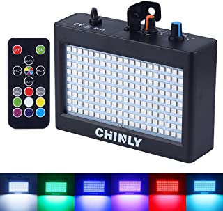 Strobe Lights, CHINLY Party Stage Lighting Super Bright Flash for Halloween Disco Bar Wedding Party KTV Concert Sound Control 35W 180LED Remote Control