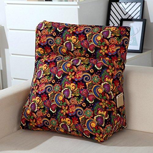 MMM- Canapé triangulaire d'oreiller de coussin de lit multifonctionnel de toile de coton grand dossier lavable (Couleur : #2, taille : 48 * 20 * 50cm)