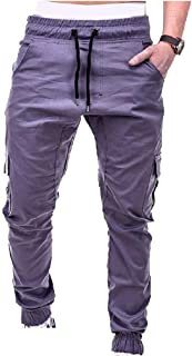 RkBaoye Men's Elastic Waist Comfy Standard-fit Pockets Drawstring Sweatpants