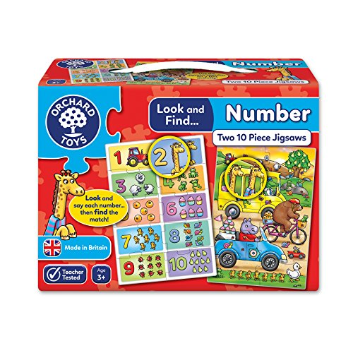 Orchard Toys Look and Find Number Jigsaw Puzzle - 2 jigsaws in a box