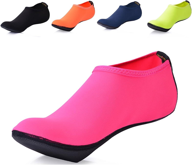 JACKSHIBO Barefoot Water Skin shoes Lightweight Aqua Socks for Beach Swim Surf Yoga Swim Exercise