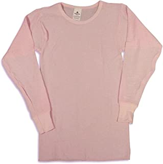 (X-Large, Pink) - Indera - Womens Long Sleeve Thermal Top, 5000LS
