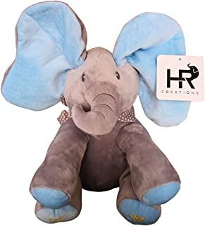 HR Creations Baby Animated Flappy Ear The Singing Elephant Plush Toy for Boy and Girl Interactive Sing and Play