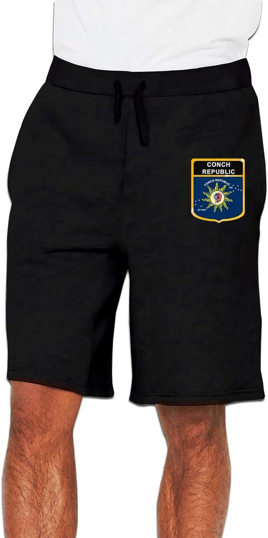 Conch Republic Flag Year-end gift Crest List price Men's Joggers Shorts Sweatpants Cotton
