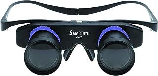 エニックス 双眼鏡 ハンズフリー 眼鏡タイプ 跳ね上げ式 メガネ対応 首掛け設計 ピント調整付き 3倍 拡大 SMARTEYE (NAVY×BLACK)