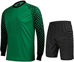 CATERTO Men's Football Goalkeeper Foam Padded Jersey Shirt & Pants/Shorts