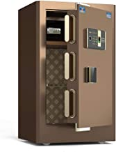 ZXNRTU Safety Boxes for Home, Fireproof Waterproof Safe,Electronic Home Safe with Medium Office Safe All Steel Anti-Theft ...