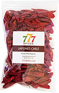 4oz Japones Dried Whole Chile Peppers, Japanese Red Pepper, Natural Dehydrated Chili Pods for Authentic Mexican Food, Heat...