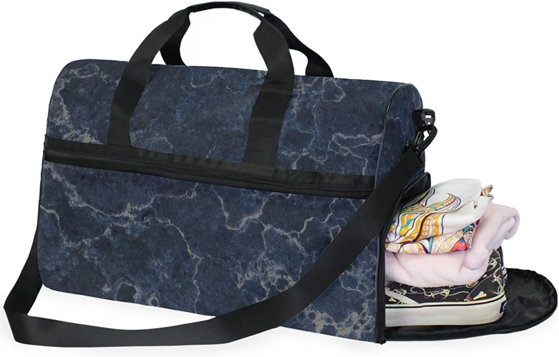 DEZIRO Weekender Bag Canvas Duffle Bag for Travel, Purple Marble 45L Duffel Overnight Weekend Bag
