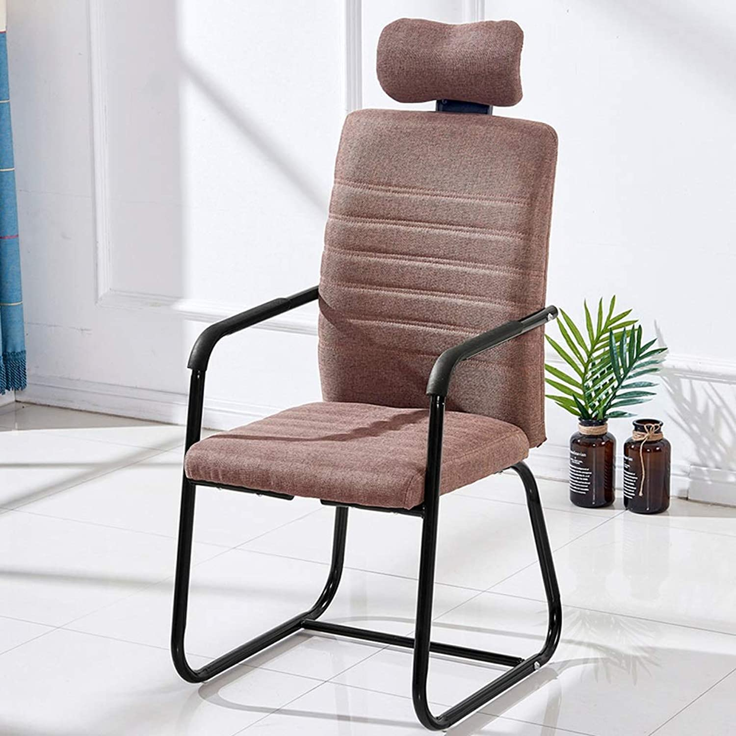 Lumbar Support for Office Chair Mesh Ergonomic Office Chair Staff Chair Headrest (color   Brown)