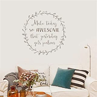 Wall Stickers Inspiring Quotes Home Art Decor Decal Mural Nursery Kid Bedroom Make Today So Awesome That Yesterday Gets Jealous for Living Room Bedroom
