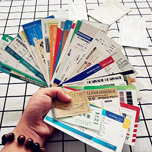 55 unids / lote de pegatinas de viaje de PVC a prueba de agua, pegatinas de tarjetas de embarque mixtas para aviones para maleta con ruedas, pegatina Retro para ordenador portátil, pegatina fresca