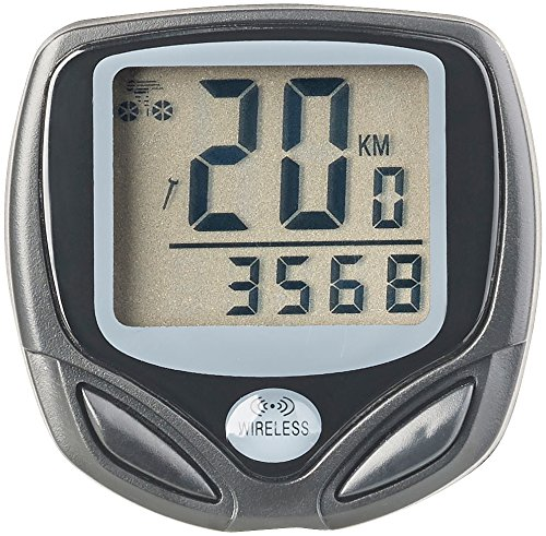 PEARL sports Fahrradcomputer: Digitaler 15in1-Fahrrad-Computer mit kabellosem Funk-Radsensor, LCD (Fahrradcomputer kabellos)