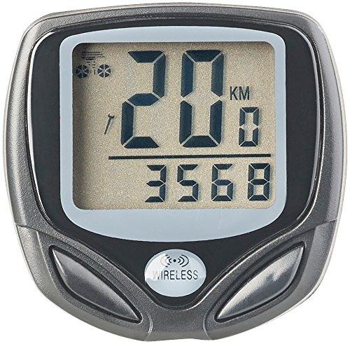 PEARL sports Fahrradcomputer: Digitaler 15in1-Fahrrad-Computer mit kabellosem Funk-Radsensor, LCD (Tachometer)
