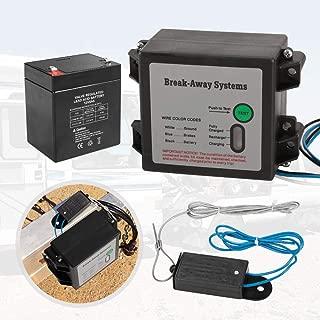 BUNKER INDUST Trailer Brakes Breakaway Kit with Charger, LED Indicator, Switch, 12V 5AH Battery for Trailer Caravan