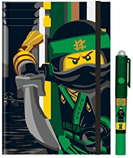 Santoki LEGO Ninjago Movie - Lloyd Hardcover Journal w/ Invisible LED Writer Pen