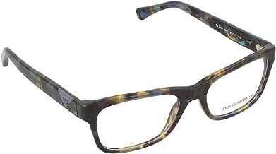Emporio Armani EA3093 5542 Eyeglasses Havana / Spotted Blue Frame 51mm w/ Clear Demo Lens