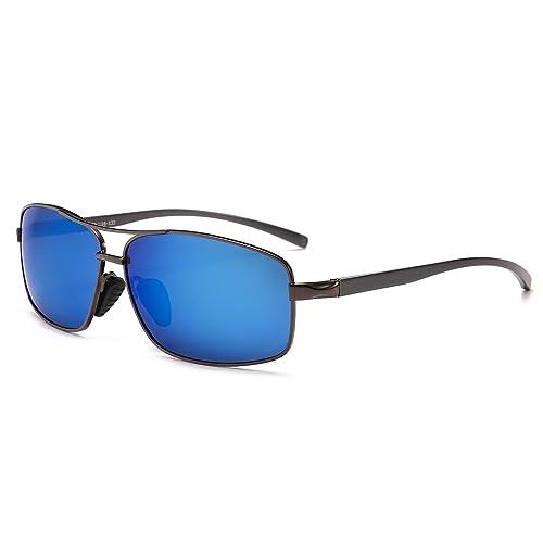 07e532ad3d7 SUNGAIT Ultra Lightweight Rectangular Polarized Sunglasses 100% UV  protection
