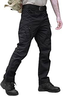 TACVASEN Military Cotton Men's Outdoor Hiking Trousers Multi-Pockets