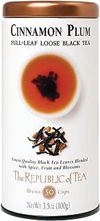 The Republic of Tea Cinnamon Plum Black Full-Leaf Tea, 3.5 Ounces / 50-60 Cups