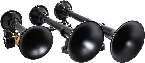 Kleinn Air Horns 730 Triple Train Horn with Valve - Black