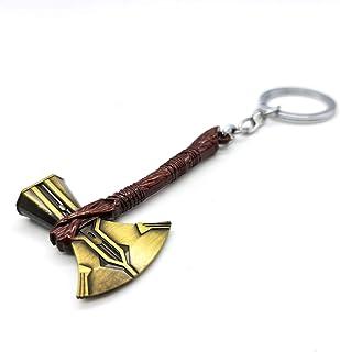 Stormbreaker Keyring Thors Axe Not Hammer Mjolnir Keyring New Version for 2020 (Gold Axe Head)
