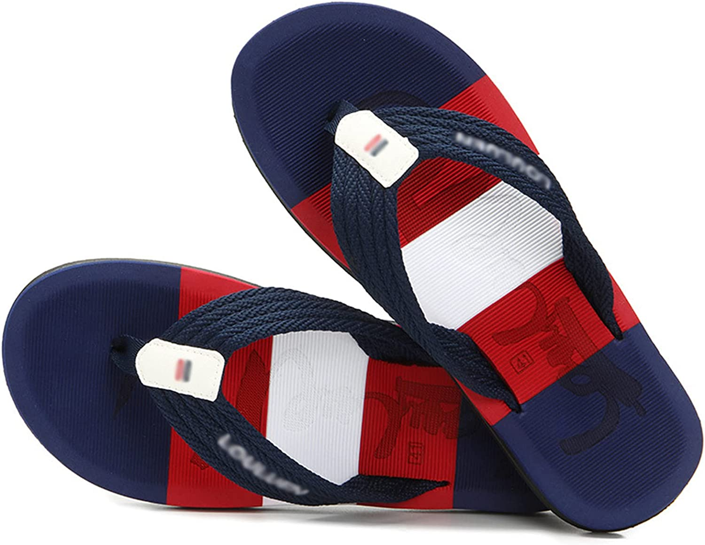 Flip Flops Men's Flat Soft Leather Bath Sandals Comfortable Wide Feet Flip Flops Yoga Foam Summer Beach Toe Separator 44