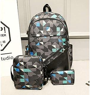 XHHWZB Waterproof School Backpack for Girls Middle School Cute Bookbag Daypack for Women Rhombus
