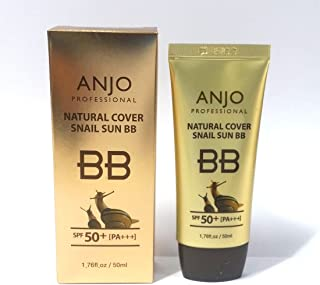 [ANJO] ナチュラルカバーカタツムリサンBBクリームSPF 50 + PA +++ 50ml X 1EA /メイクアップベース/カタツムリ粘液 / Natural Cover Snail Sun BB Cream SPF 50+PA+++ 50ml X 1EA / Makeup Base / Snail Mucus / 韓国化粧品 / Korean Cosmetics [並行輸入品]