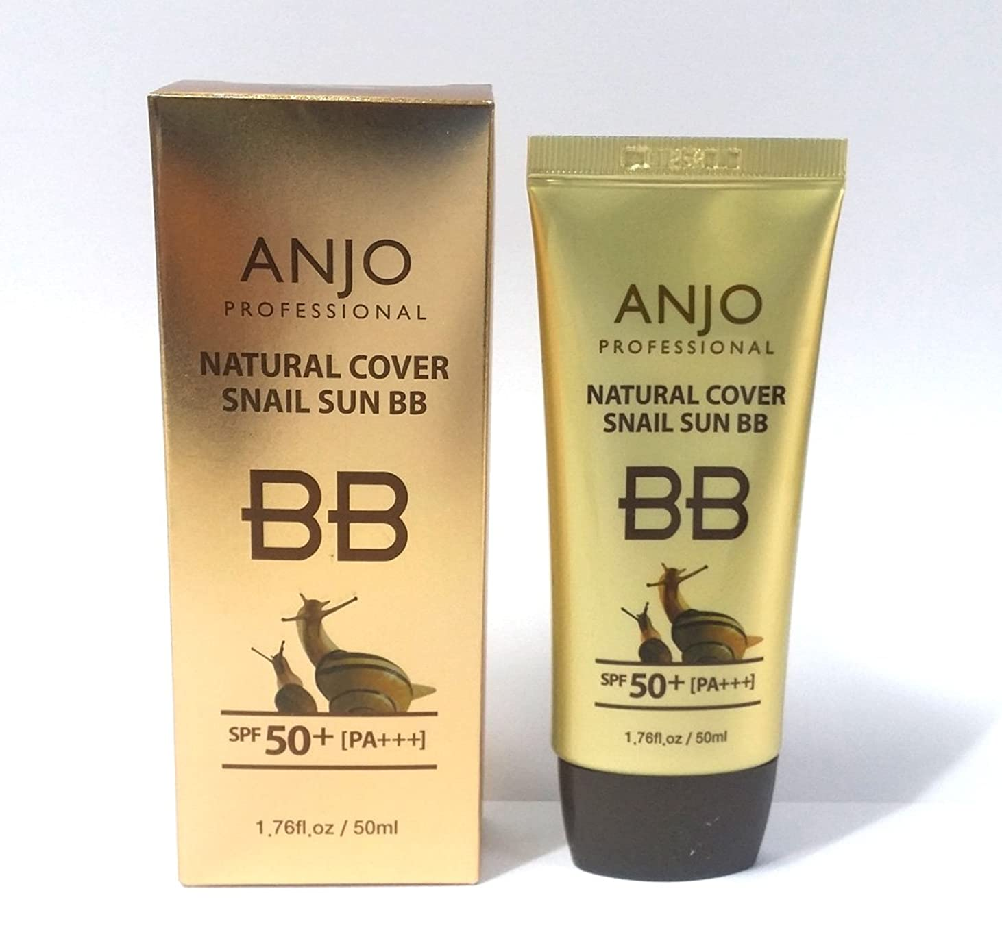 芸術的フェードバレル[ANJO] ナチュラルカバーカタツムリサンBBクリームSPF 50 + PA +++ 50ml X 6EA /メイクアップベース/カタツムリ粘液 / Natural Cover Snail Sun BB Cream SPF 50+PA+++ 50ml X 6EA / Makeup Base / Snail Mucus / 韓国化粧品 / Korean Cosmetics [並行輸入品]