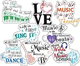 Music Stickers - Perfect Music Stickers for Men, Music Lovers, Women, Kids - Waterproof, Extra Sticky, Durable 100% Vinyl - Work Great On Water Bottles, A Laptop, Car Decal, Or As Party Favors