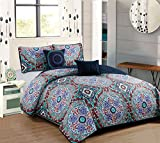 RT Designers Collection Odyssey Five-Piece Quilt Set, Queen Bedding, Multicolor