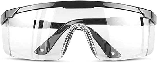TOREGE Safety Glasses, Anti Fog Safety Goggles,Adjustable Temples Design Fit Most People,Protective Eyewear For men & Women