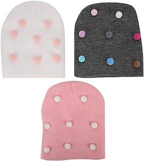 3 pièces bébé bonnet, enfants super doux en tricot bonnets infantile enfant en bas âge garçon fille chapeaux point motif t...