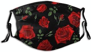 Flowers Mouth Cover, Washable Face Bandanas Balaclava Reusable Fabric Scarf