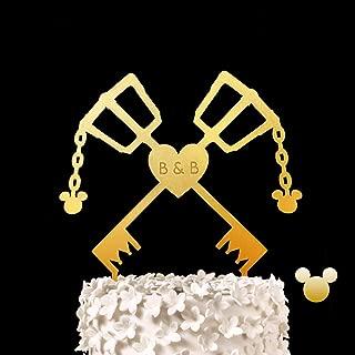 CUSTOM INITIAL Keyblades Wedding Cake Topper - Kingdom Hearts, Keyblade, Key Blade Keepsake Wedding Cake Toppers