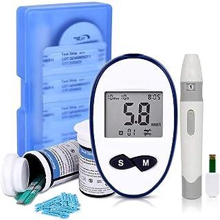 Dytxe-shelf Medidor De Glucosa En Sangre/Glucosa En Sangre Kit De Control De La Diabetes Kit con 50 Tiras Reactivas Sin Código,En Mmol/L