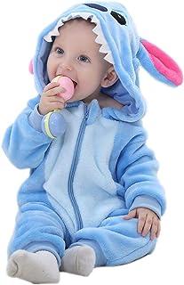 Mameluco Mono Unisex para bebé con Capucha y Pijama de Dibujos Animados Invierno Traje de Nieve Animal Disfraz bebé