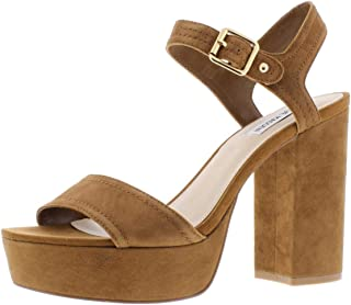 Womens Jodi Leather Open Toe Ankle Strap Platform Pumps