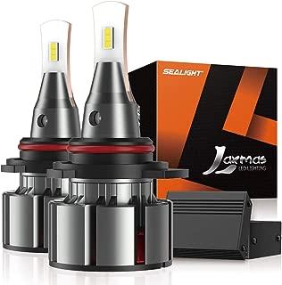 SEALIGHT Laxmas L2 9012/HIR2 LED Headlight Bulbs, Ultra-thin, 360-degree Illumination, 6000K Daylight Effect, 200% Brightness, Pack of 2