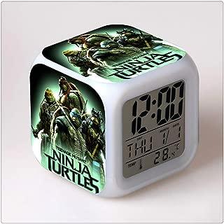 Roxanne Zangwill Teenage Mutant Ninja Turtles Color Change Glowing Digital Alarm Clock Gift for Family Child Friend(Multiple Pattern) …