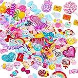 Lot de 100 breloques en résine pour bonbons, bonbons, bonbons, bonbons, décoration,...