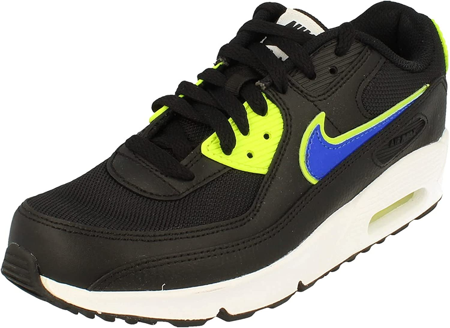 Amazon.com | Nike Youth Air Max 90 LTR GS Leather Trainers | Running