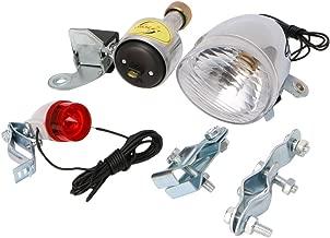 RingBuu Bicycle, Motorized Bike, Friction Dynamo, Generator Headlight/Tail Light with Acessories