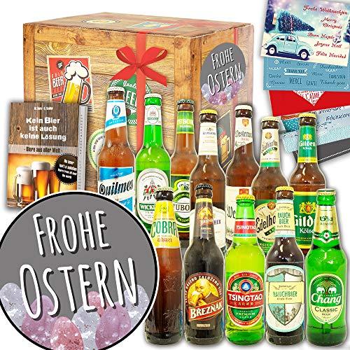 Frohe Ostern - Geschenke zu Ostern Frauen - Biere der Welt und DE 12x