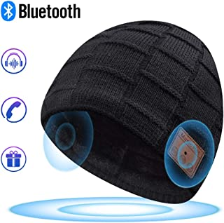 Bluetooth Beanie, Bluetooth Hat, Mens Gifts, Women Mens Beanie Hats with Bluetooth Headphones, Fits for Outdoor Sports, Skiing,Running, Skating, Walking, Christmas Birthday Gifts for Men Women Black