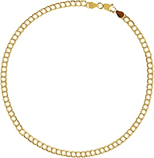 b40ff609b 10k Solid Real Yellow Gold Link Charm Bracelet 7' Inch