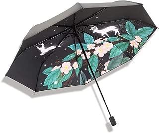 SHANGRUIYUAN-Umberllas Folding Umbrella Women's Fashionable 8 Bones UV Cut Rain Prevention Measures Rainproof Outdoor Umbrella (Color : Pink)