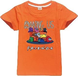 Camiseta Divertida para niños Among Us Gaming Impostor Character 100% algodón Niños Niñas Camiseta Viral Gamer Top-13 Colo...